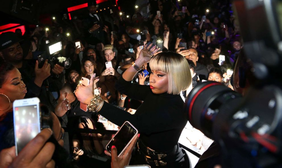 Rapper nicki minaj shares her personal story as a 5 year old photo nicki minaj greets fans outside the highline ballroom on may 19 2018 in m4hsunfo