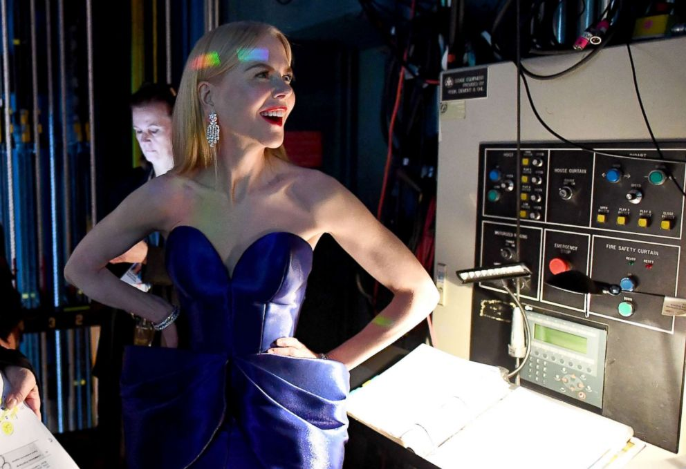 PHOTO: Nicole Kidman backstage at the 90th Annual Academy Awards at the Dolby Theatre on March 4, 2018 in Hollywood, Calif.