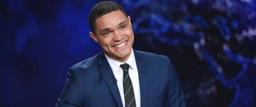 "PHOTO: In this Sept. 29, 2015, file photo, Trevor Noah appears during a taping of ""The Daily Show,"" on Comedy Central, in New York City."