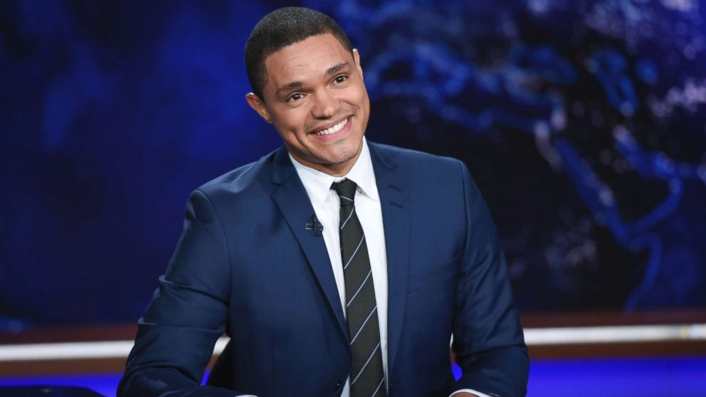 """In this Sept. 29, 2015, file photo, Trevor Noah appears during a taping of """"The Daily Show,"""" on Comedy Central, in New York City."""