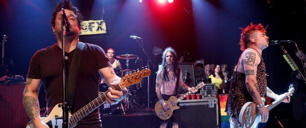 PHOTO: El Hefe, Erik Sandin, Fat Mike and Eric Melvin of NOFX perform at Irving Plaza, April 29, 2016, in New York City.