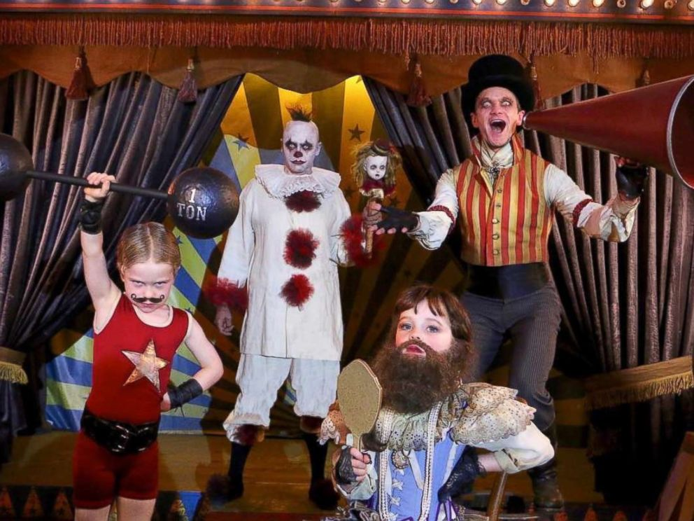 photo neil patrick harris and his family dressed up as a carnival performers - Kids Halloween Pics