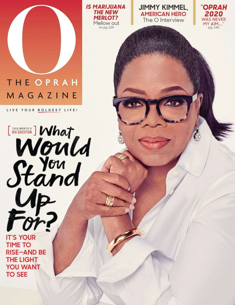 PHOTO: Kimmel is interviewed in the April issue of O, The Oprah Magazine.