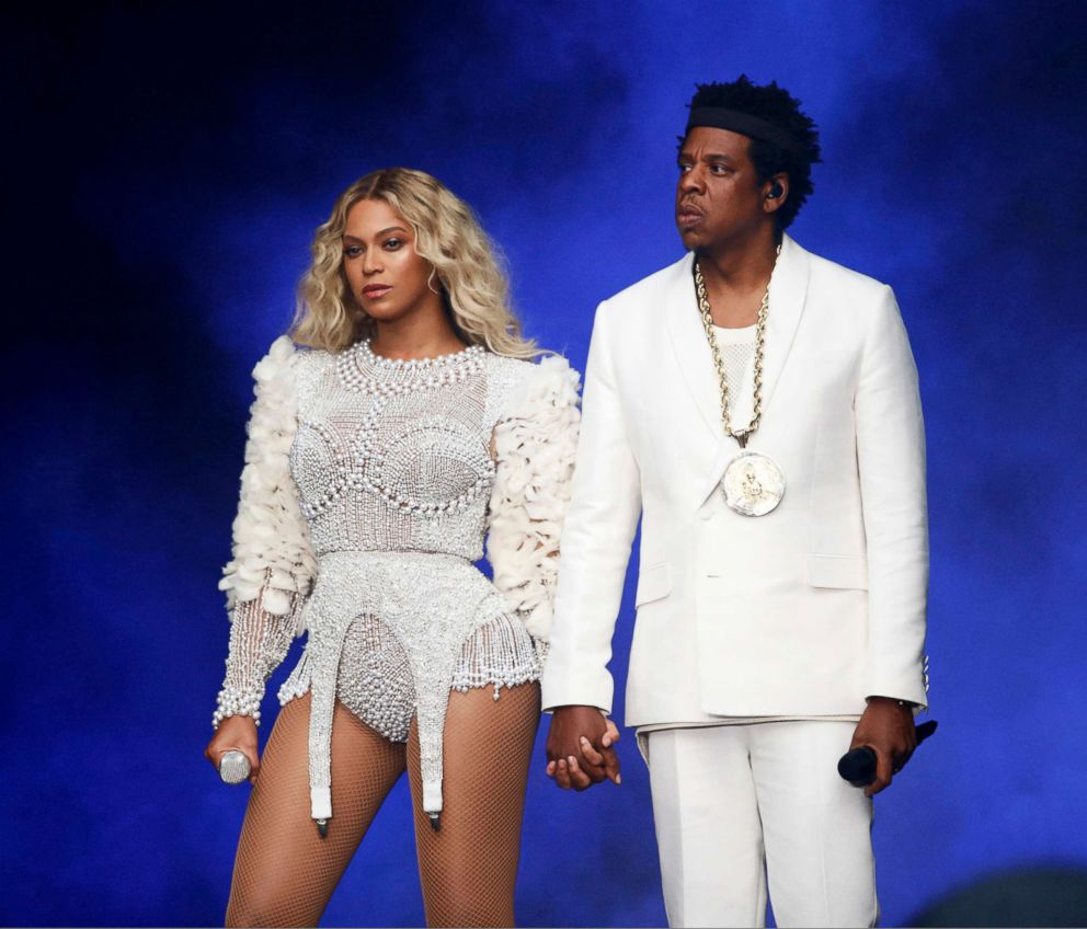 PHOTO: Beyonce and Jay-Z perform in concert during their, On The Run II Tour, in Paris, July 14, 2018.
