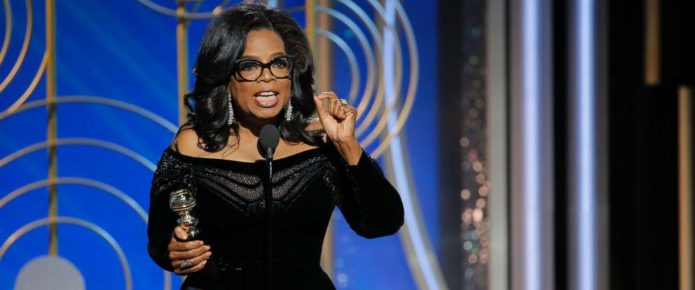 PHOTO: Oprah Winfrey accepts the 2018 Cecil B. DeMille Award during the 75th Annual Golden Globe Awards on Jan. 7, 2018 in Beverly Hills, Calif.