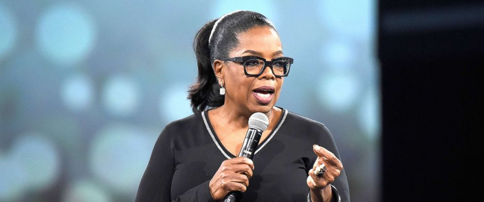 PHOTO: Oprah Winfrey speaks on stage during The Robin Hood Foundations 2018 benefit at Jacob Javitz Center, May 14, 2018, in New York City.