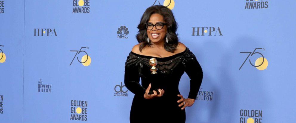 8adf2e66fda PHOTO  Oprah Winfrey accepts the Cecil B. Demille award at the 75th annual  Golden