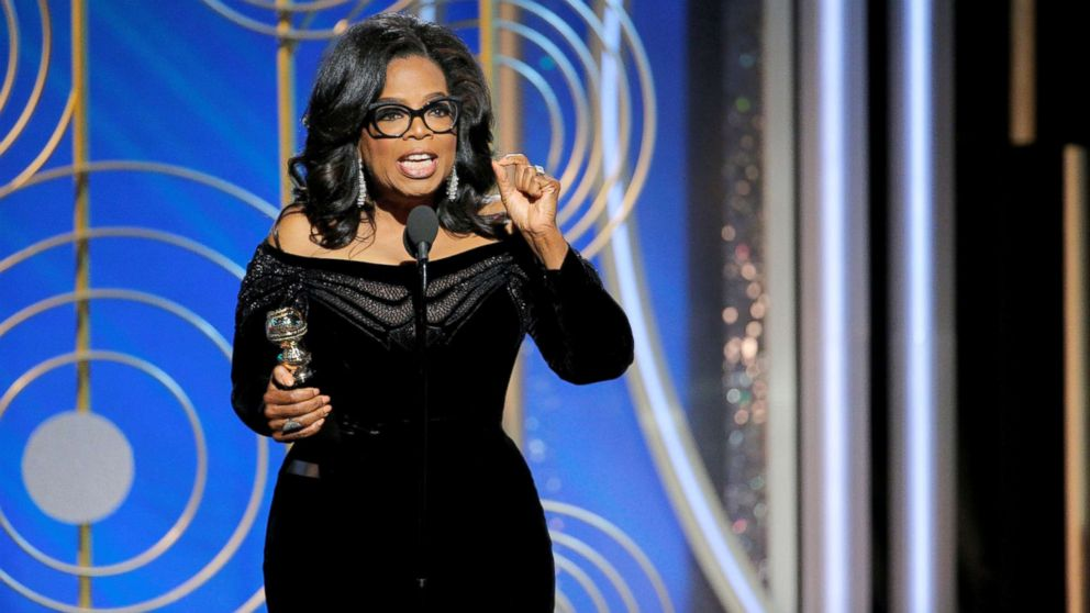 Oprah Winfrey speaks after accepting the Cecil B. Demille Award at the 75th Golden Globe Awards in Beverly Hills, Calif., January 7, 2018.