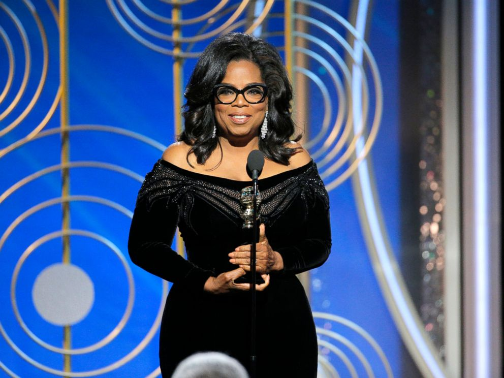 PHOTO: At the 75th Annual Golden Globe Awards, Oprah Winfrey accepts the Cecil B. DeMille Award, Jan. 7, 2018, in Beverly Hills, Calif.