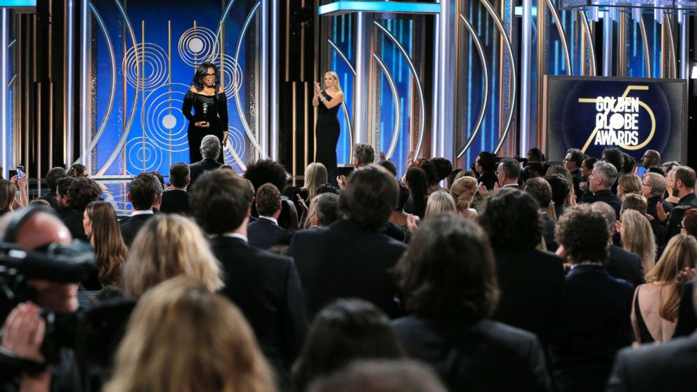 Oprah Winfrey accepts the 2018 Cecil B. DeMille Award during the 75th Annual Golden Globe Awards at The Beverly Hilton Hotel, Jan. 7, 2018, in Beverly Hills, Calif.