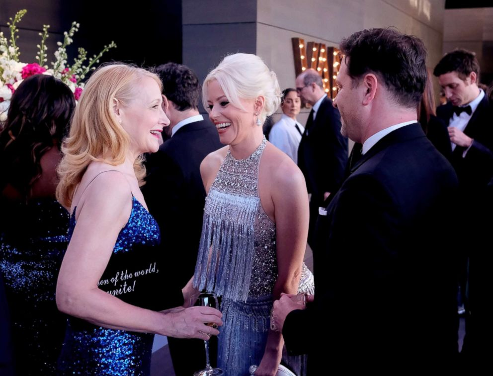 PHOTO: Patricia Clarkson and Elizabeth Banks attend the 2018 Vanity Fair Oscar Party hosted by Radhika Jones at Wallis Annenberg Center for the Performing Arts, March 4, 2018, in Beverly Hills, Calif.