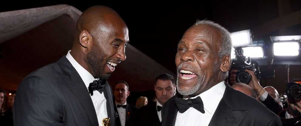 PHOTO: Filmmaker Kobe Bryant, winner of the Best Animated Short Film award for Dear Basketball, and actor Danny Glover attend the 90th Annual Academy Awards Governors Ball at Hollywood & Highland Center, March 4, 2018, in Hollywood, Calif.