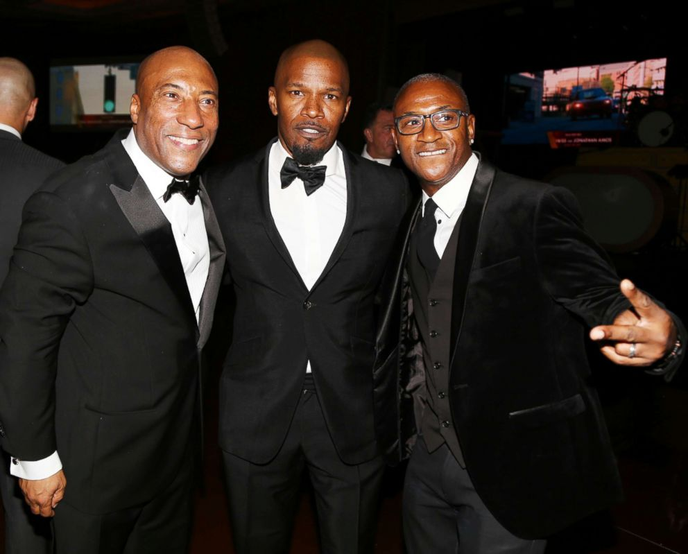 PHOTO: Byron Allen, Jamie Foxx and Tommy Davidson at Byron Allens Oscar Gala Viewing Party, March 4, 2018 in, Los Angeles.