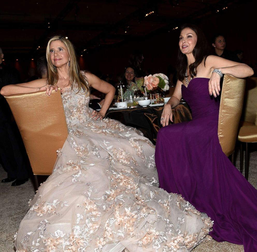 PHOTO: Mira Sorvino and Ashley Judd attend the 90th Annual Academy Awards Governors Ball at Hollywood & Highland Center, March 4, 2018, in Hollywood, Calif.