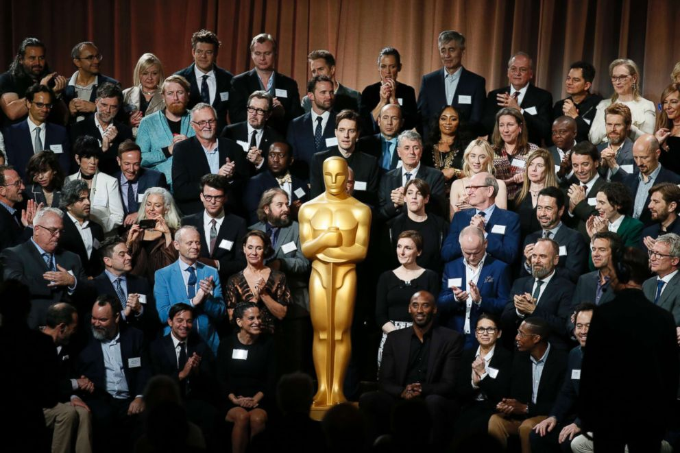 PHOTO: Nominees of the 90th Academy Awards pose for a group photo at the Nominees Luncheon at The Beverly Hilton hotel on Feb. 5, 2018, in Beverly Hills, Calif.