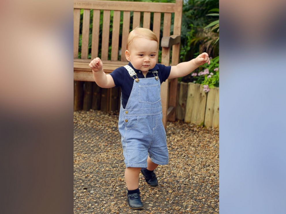 PHOTO: This photo dated July 2, 2014, was taken to mark Prince Georges first birthday and shows the Prince during a visit to the Sensational Butterflies exhibition at the Natural History Museum, London.