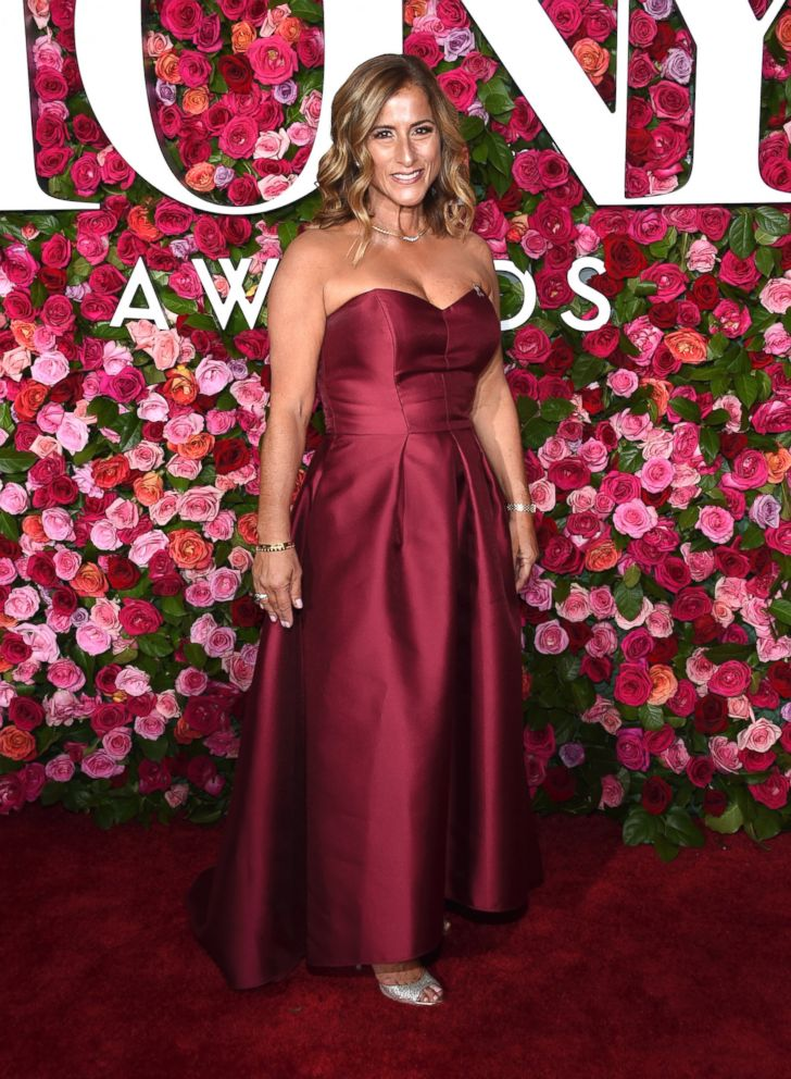 Melody Herzfeld, drama teacher from Marjory Stoneman Douglas High School, arrives at the 72nd annual Tony Awards at Radio City Music Hall on Sunday, June 10, 2018, in New York.