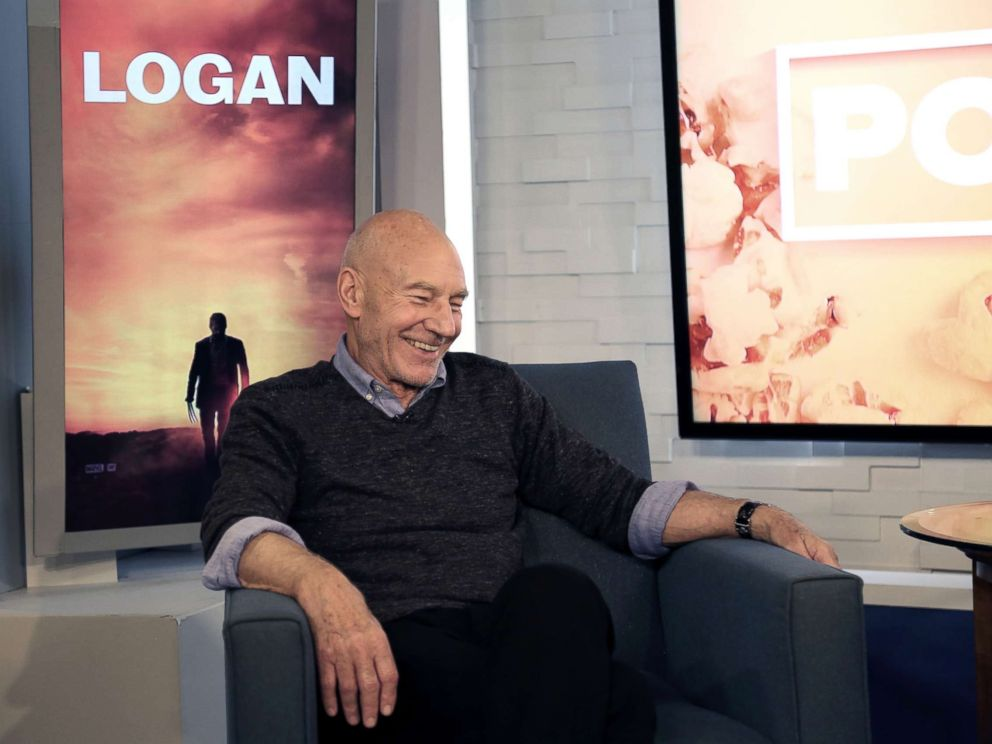 PHOTO: Patrick Stewart appears on Popcorn with Peter Travers at ABC News studios, July 17, 2017, in New York City.