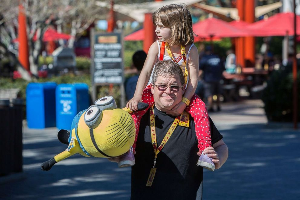 PHOTO: Patton Oswalt and his daughter Alice Oswalt visit LEGOLAND on Feb. 6, 2016 in Carlsbad, Calif.