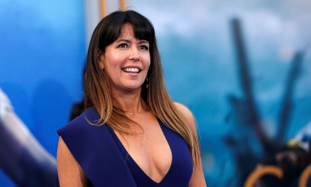 "Patty Jenkins poses at the premiere of ""Wonder Woman"" in Los Angeles, May 25, 2017."