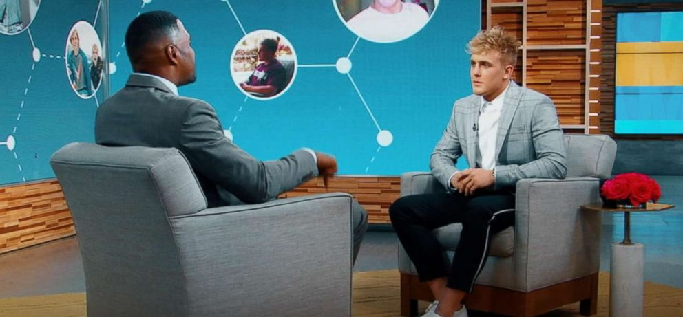 PHOTO: Youtube star Jake Paul opened up about how he hopes to be a role model in an interview with ABC News Michael Strahan.