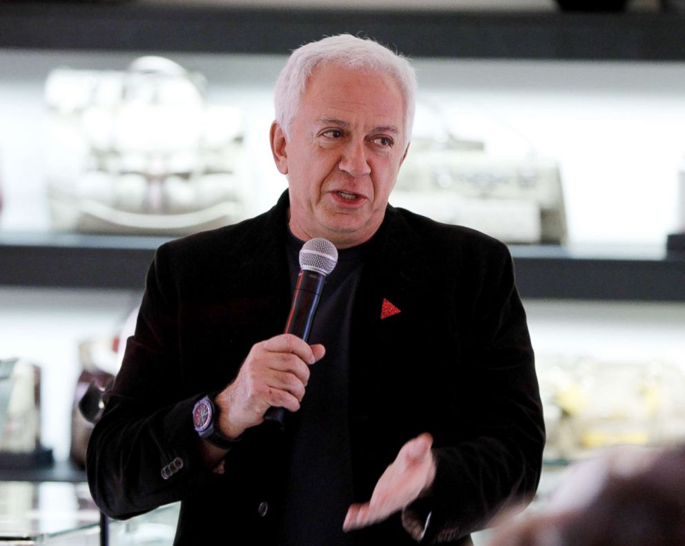 PHOTO: Paul Marciano speaks at GUESS Flagship Boutique on Nov. 10, 2011, in Beverly Hills, Calif.