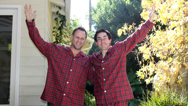 PHOTO: A celebrity super-fan funded a holiday to Hollywood after convincing thirteen famous people - to sleepover at their homes.