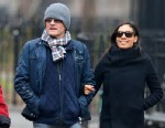 PHOTO: Actress Rosario Dawson is seen with Danny Boyle going for an afternoon walk in Soho, New York, Jan. 17, 2013.