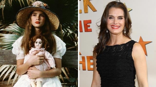 "PHOTO: Brooke Shields as Violet in ""Pretty Baby."" Brooke Shields, right, attends the opening night of ""Peter And The Starcatcher"" on Broadway on April 15, 2012 in New York City."