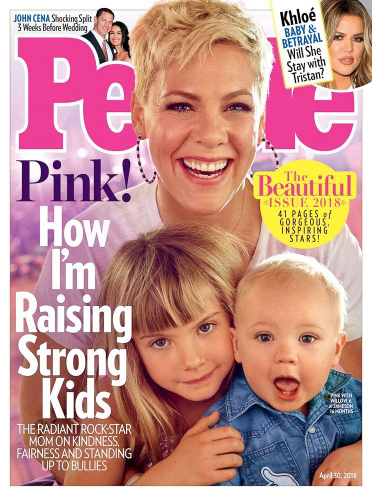 PHOTO: Pink and her children appear on the cover of People magazines Beautiful issue, during the first year that the magazine took the word most out of the annual issues title to show that beauty is not a contest.
