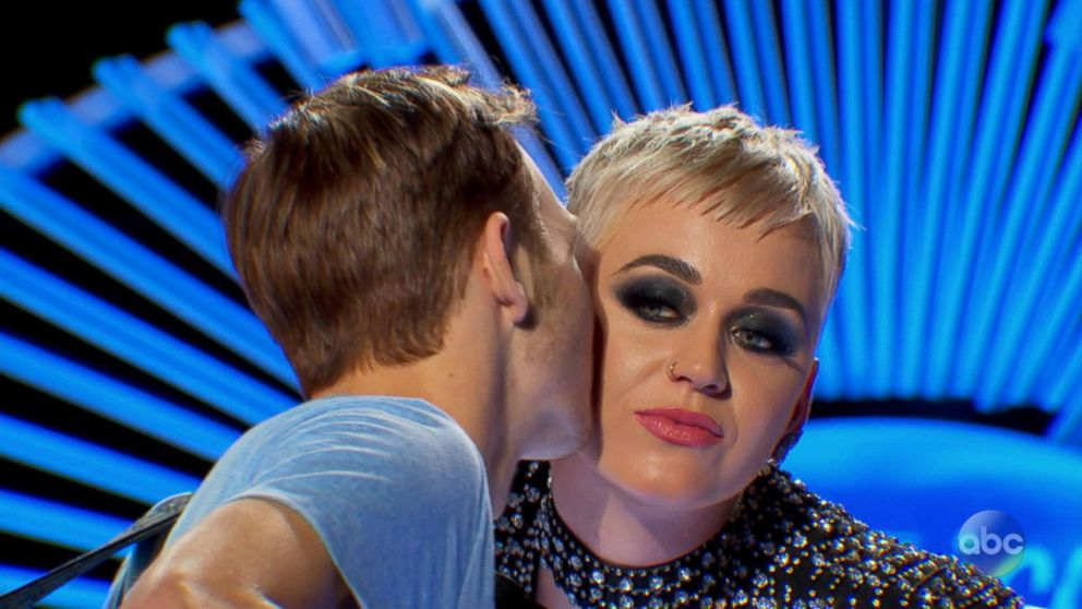 ABCBenjamin Glaze gives judge Katy Perry a kiss on