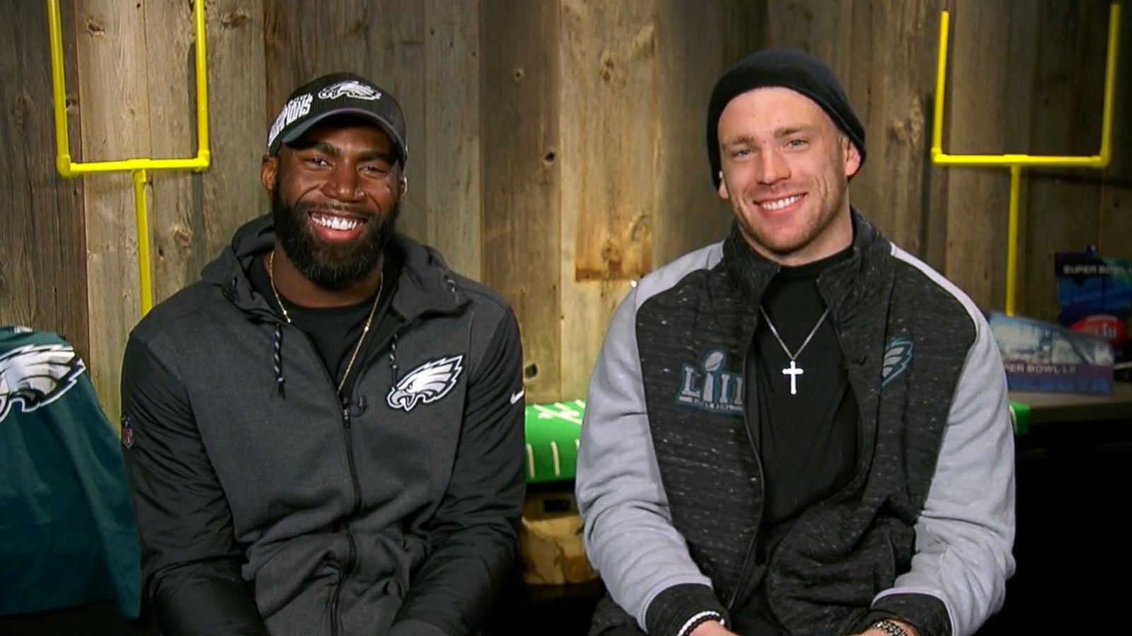 Image result for zach ertz and malcolm jenkins