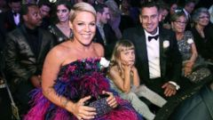 PHOTO: Pink, Willow Sage Hart and Carey Hart attend the 60th Annual GRAMMY Awards at Madison Square Garden, Jan. 28, 2018, in New York.