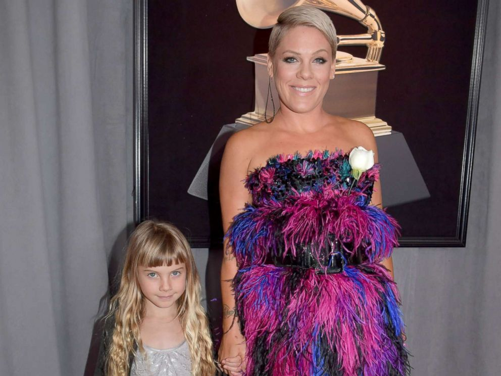 PHOTO: Pink and her daughter Willow Hart attend the 60th annual GrammyAwards at Madison Square Garden, Jan. 28, 2018, in New York City.