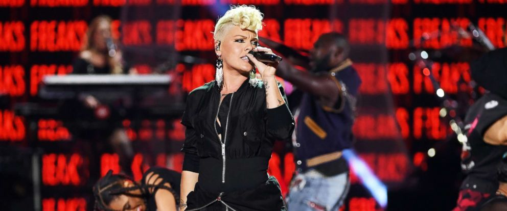 PHOTO: Pink performs on Sept. 22, 2017, in Las Vegas.