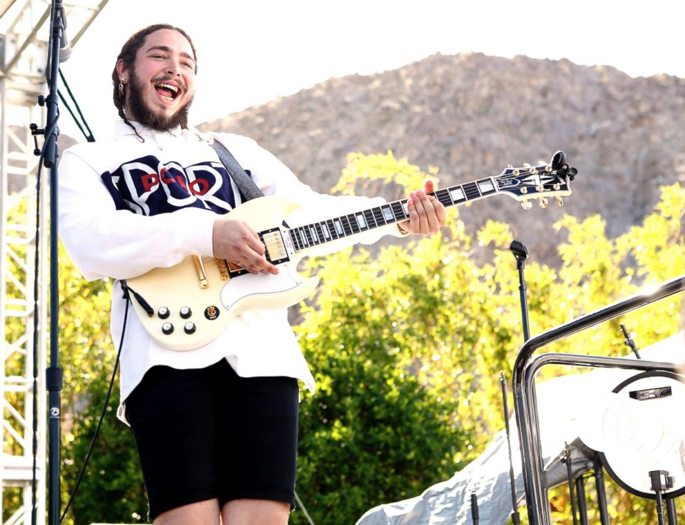 PHOTO: Post Malone performs at the Coachella Republic Records Jaegermeister Party on April 17, 2016, in Palm Springs, Calif.