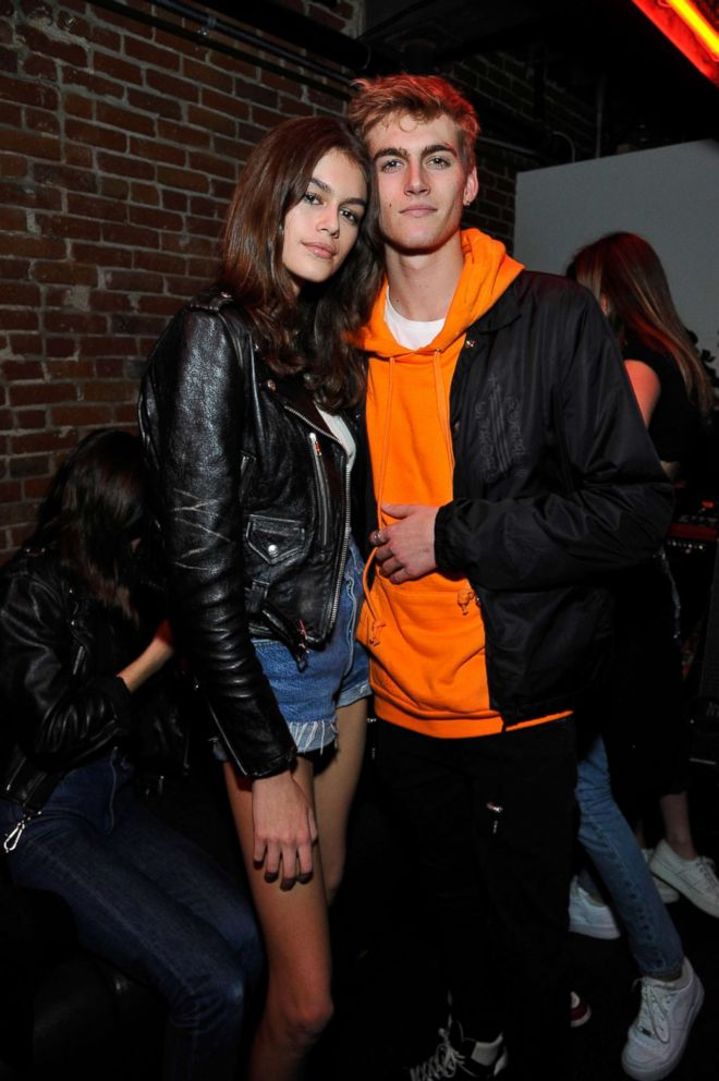 PHOTO: Kaia Gerber and Presley Gerber attend Spotifys Louder Together event at Resident DTLA, March 24, 2018, in Los Angeles.
