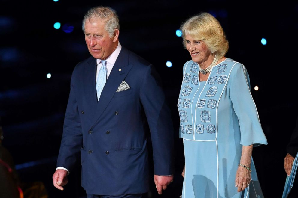 PHOTO: Prince Charles, Prince of Wales and Camilla, Duchess of Cornwall attend the 2018 Commonwealth Games Opening Ceremony at Carrara Stadium, April 4, 2018, in Gold Coast, Australia.