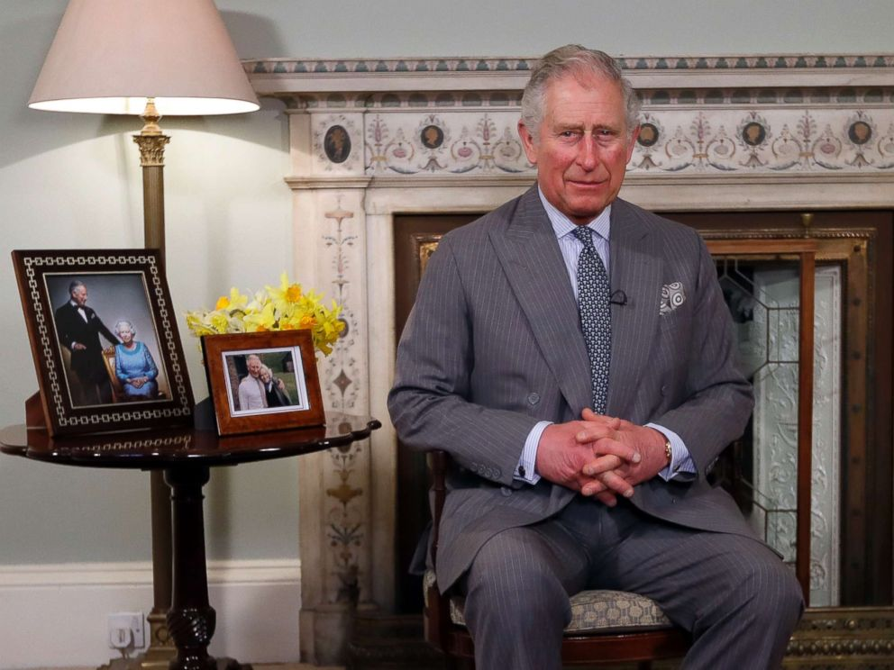 PHOTO: Britains Prince Charles delivers his Easter message on March 15, 2018 at the Clarence House in London.