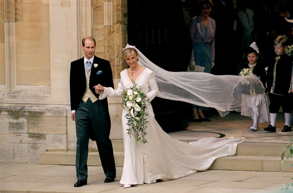 PHOTO: Prince Edward and Sophie Rhys-Jones on the day of their wedding, June 19, 1999.