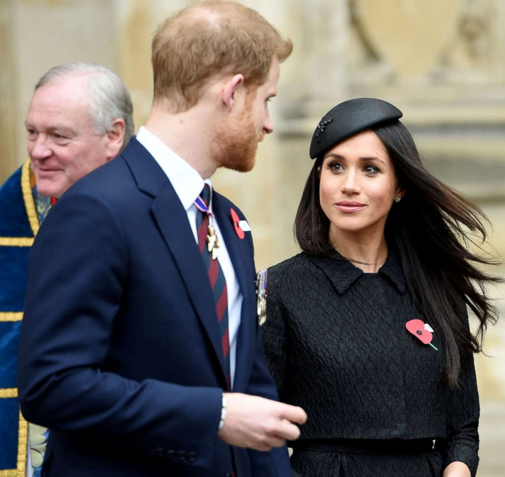 PHOTO: Britains Prince Harry and Meghan Markle attend a Service of Thanksgiving and Commemoration on ANZAC Day at Westminster Abbey in London, Britain, April 25, 2018.