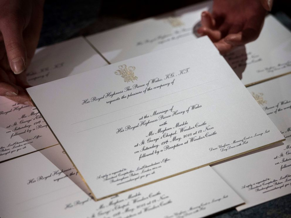PHOTO: The invitations follow many years of Royal tradition and have been made by @BarnardWestwood. They feature the Three-Feathered Badge of the Prince of Wales printed in gold ink.