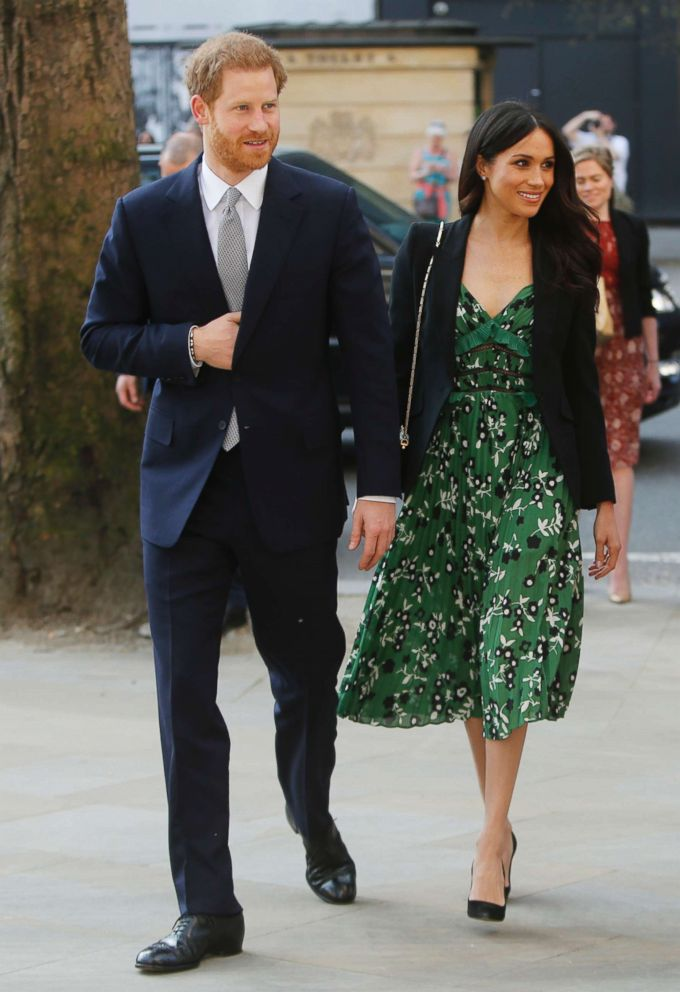 PHOTO: Prince Harry and Meghan Markle arrive to attend a reception at Australia House in London, April 21, 2018.