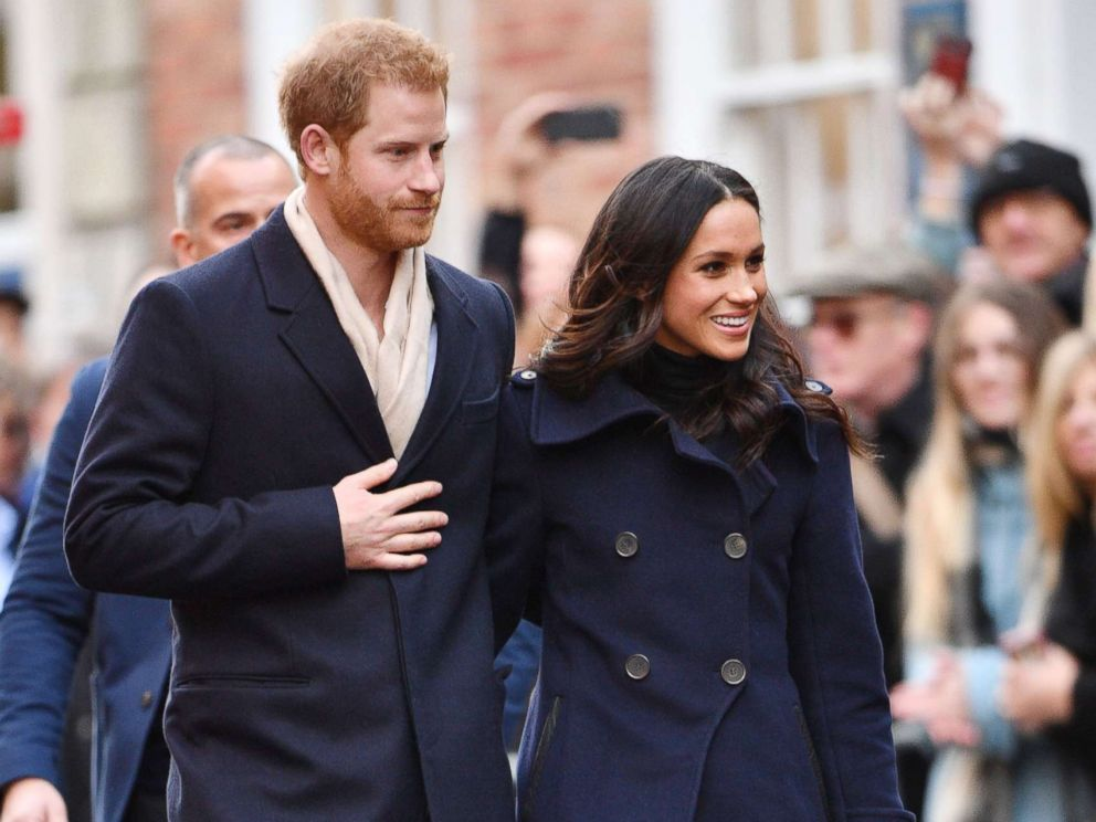 PHOTO: Prince Harry and Meghan Markle visit the Terrence Higgins Trust World AIDS Day Charity Fair, in Nottingham, England, Dec. 1, 2017.