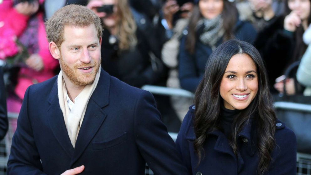 Britain's Prince Harry and his fiancee, Meghan Markle visit the Terrence Higgins Trust World AIDS Day charity fair at the Nottingham Contemporary, in Nottingham, England, Dec. 1, 2017.