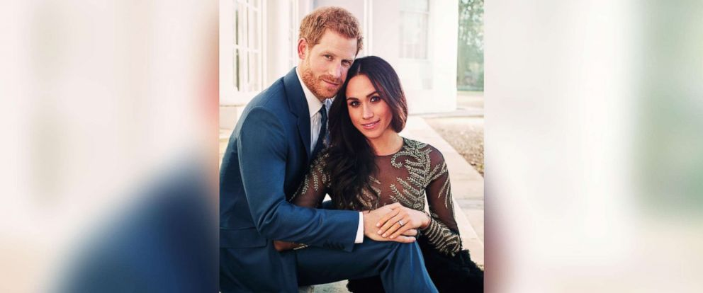 PHOTO: Britains Prince Harry and Meghan Markle pose for one of two official engagement photos, at Frogmore House, in Windsor, England, in this photo released by Kensington Palace, Dec. 21, 2017.