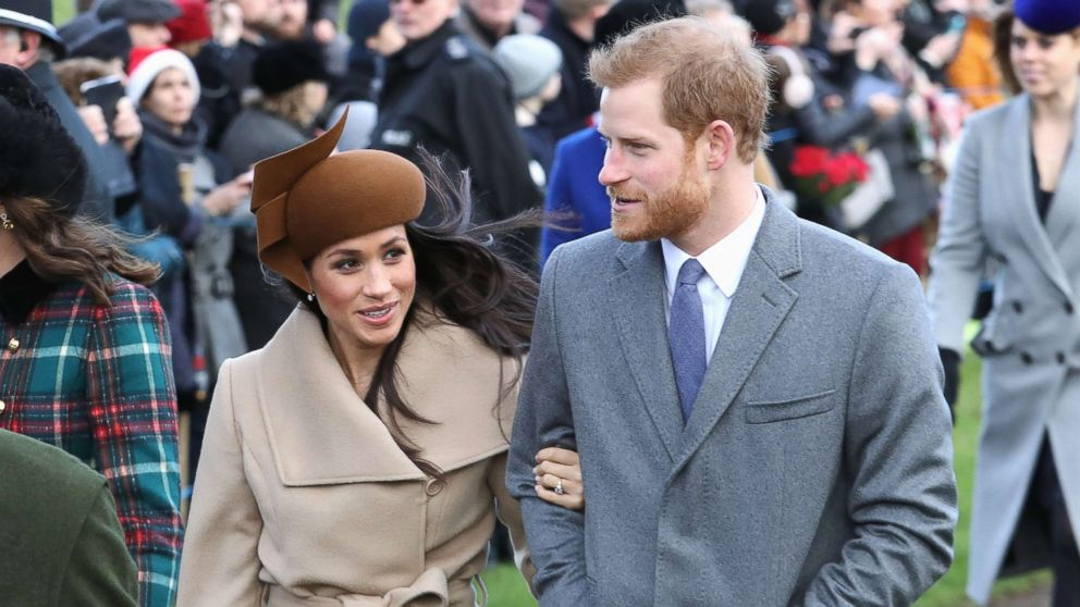 Meghan Markle and Prince Harry attend Christmas Day Church service at Church of St. Mary Magdalene, Dec. 25, 2017 in King's Lynn, England.
