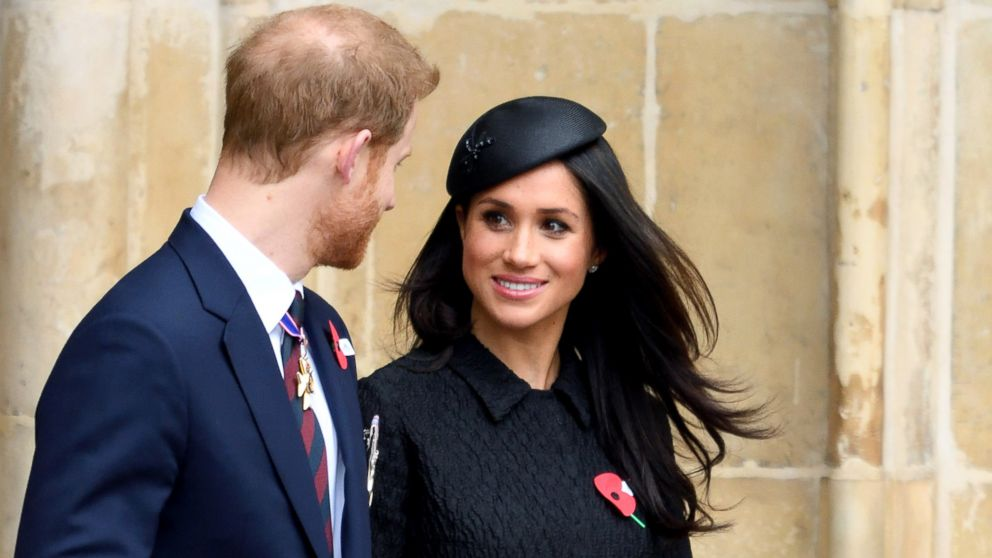 Prince Harry and Meghan Markle attend the Anzac Day service of Thanksgiving and Commemoration at Westminster Abbey, April 25, 2018, in London.