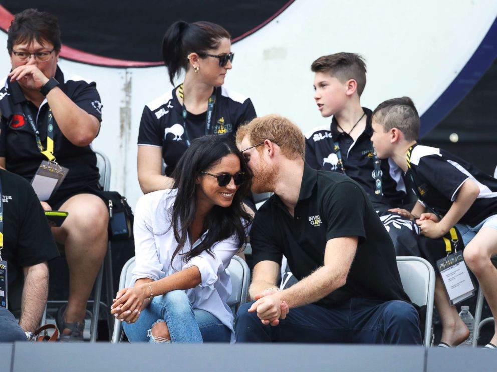 PHOTO: Prince Harry and Meghan Markle attend the wheelchair tennis event at the Invictus Games in Toronto, Sept. 25, 2017