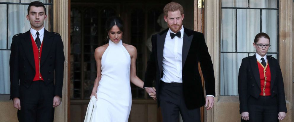 PHOTO: The newly married Duke and Duchess of Sussex, Prince Harry and Meghan Markle, leave Windsor Castle after their wedding to attend an evening reception at Frogmore House, in Windsor, England, May 19, 2018.
